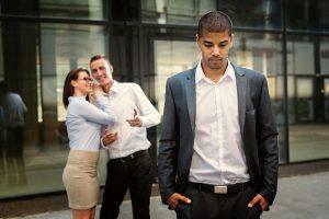Coworkers whisper behind man's back