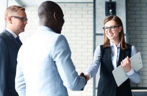 handshaking employee agreement