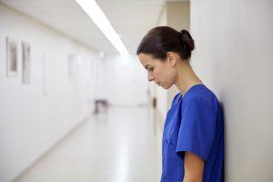 sad female nurse